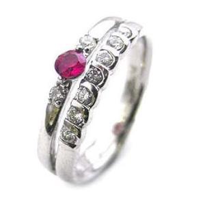 エンゲージリング 婚約指輪 ダイヤモンド ダイヤ プラチナ リング ルビー|suehiro