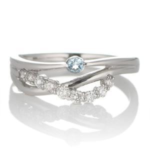 婚約指輪 安い エンゲージリング ダイヤモンド ダイヤ リング 指輪 人気 ダイヤ プラチナ リング アクアマリン|suehiro
