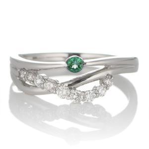 エンゲージリング 婚約指輪 安い ダイヤモンド ダイヤ プラチナ リング エメラルド 夏 suehiro