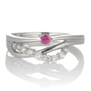 エンゲージリング 婚約指輪 安い ダイヤモンド ダイヤ プラチナ リング ルビー|suehiro