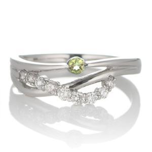 婚約指輪 安い エンゲージリング ダイヤモンド ダイヤ リング 指輪 人気 ダイヤ プラチナ リング ペリドット|suehiro