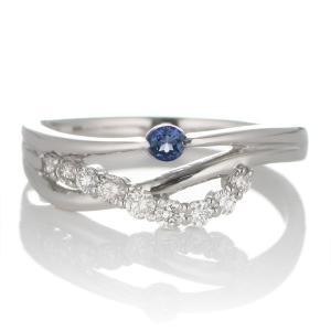 エンゲージリング 婚約指輪 安い ダイヤモンド ダイヤ プラチナ リング サファイア 夏|suehiro