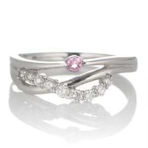 婚約指輪 エンゲージリング ダイヤモンド ダイヤ リング 指輪 人気 ダイヤ プラチナ リング ピンクトルマリン 夏|suehiro