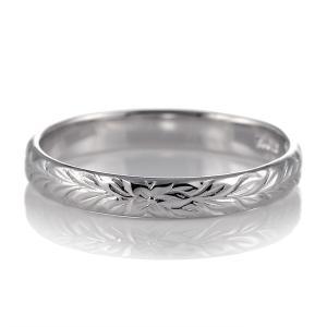 ハワイアンジュエリー メンズ 指輪 プラチナ 幅約3mm マイレ セール|suehiro