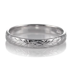 ハワイアンジュエリー メンズ 指輪 ホワイトゴールド 18金 幅約3mm マイレ セール|suehiro