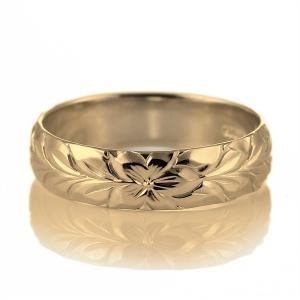 ハワイアンジュエリー メンズ 指輪 イエローゴールド 18金 幅約5mm マイレ セール|suehiro