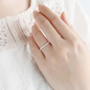 ダイヤ エタニティ 0.3カラット プラチナ900 ダイヤモンド 指輪 リング スイート エタニティ 結婚 婚約指輪 10周年記念 -QP あすつく|suehiro|02