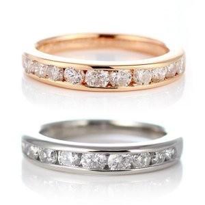 ダイヤモンド指輪 エタニティリング スイート エタニティ ダイヤモンド プラチナ ピンクゴールド エタニティ リング 1カラット 結婚 10周年記念 セール|suehiro