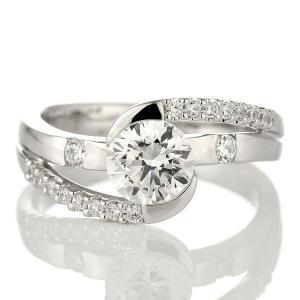 婚約指輪 ダイヤモンド 1カラット リング プラチナ ダイヤモンドエンゲージリングリング 1カラット ソリティア ダイア ダイヤ 一粒 大粒 鑑別書付 セール|suehiro