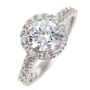 指輪レディース ダイヤモンド リング 一粒 1カラット 大粒 ダイヤモンド プラチナ リング 指輪 鑑別書【今だけ代引手数料無料】|suehiro