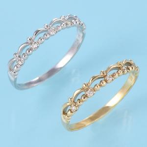 ダイヤモンド指輪 ピンキーリング 指輪 ダイヤモンド K10...