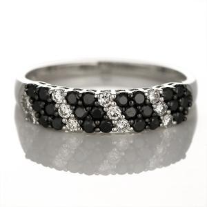 ダイヤモンド指輪 エタニティリング ブラックダイヤモンド リング 指輪 18金 ホワイトゴールド ダイヤ リング ストレート レディース エタニティ セール suehiro