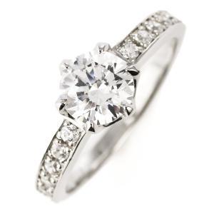 指輪レディース ダイヤモンド 1カラット リング プラチナ ダイヤモンドリング 1ct ソリティア 一粒 大粒 鑑別書付【今だけ代引手数料無料】|suehiro