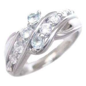 ダイヤモンド指輪 エタニティリング ダイヤモンド 3月誕生石K18ホワイトゴールド アクアマリン ダイヤモンドリング 結婚 10周年【今だけ代引手数料無料】 suehiro
