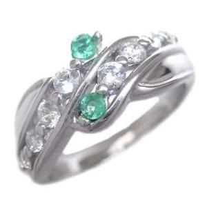 エメラルド 指輪 エタニティリング ダイヤモンド 5月誕生石K18ホワイトゴールド エメラルド ダイヤモンドリング 結婚 10周年【今だけ代引手数料無料】 suehiro