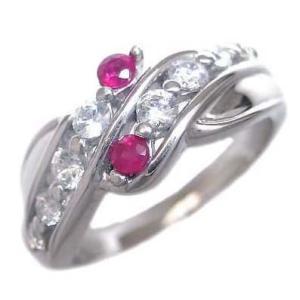 ダイヤモンド指輪 エタニティリング スイート エタニティ ダイヤモンド 7月誕生石K18ホワイトゴールド ルビー ダイヤモンドリング 結婚 10周年 セール suehiro