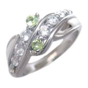 ダイヤモンド指輪 エタニティリング ダイヤモンド 8月誕生石K18ホワイトゴールド ペリドット ダイヤモンドリング 結婚 10周年【今だけ代引手数料無料】|suehiro