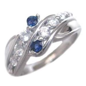 サファイア 指輪 ダイヤモンド指輪 エタニティリング ダイヤモンド 9月誕生石K18ホワイトゴールド サファイア ダイヤモンドリング 結婚 10周年 セール|suehiro