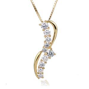 ダイヤモンド ネックレス スイート エタニティ 10個のダイヤモンド 結婚10周年 18金 suehiro