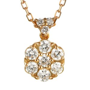 ダイヤモンド ネックレス パヴェ スイート エタニティ 10個のダイヤモンド 結婚10周年 18金 suehiro