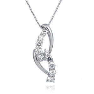 スイート エタニティ 10個のダイヤモンド ダイヤモンド ネックレス プラチナ 結婚10周年 suehiro