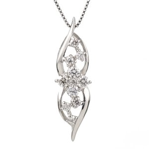 ダイヤモンド ネックレス プラチナ スイート エタニティ 10個のダイヤモンド 結婚10周年 suehiro