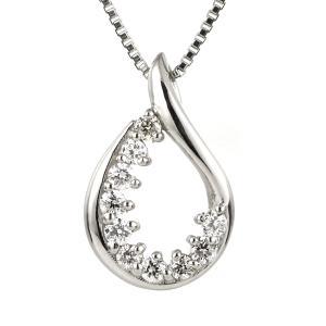ダイヤモンド ネックレス プラチナ しずく スイート エタニティ 10個のダイヤモンド 結婚10周年 suehiro