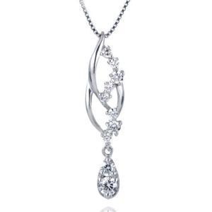 ダイヤモンド ネックレス プラチナ 揺れる スイート エタニティ 10個のダイヤモンド 結婚10周年 suehiro