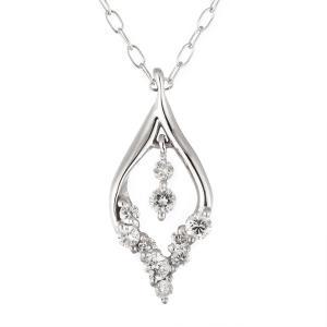 ダイヤモンド ネックレス K18ホワイトゴールド ダイヤモンドド ペンダント ネックレス プレゼント 結婚 10周年記念【今だけ代引手数料無料】|suehiro