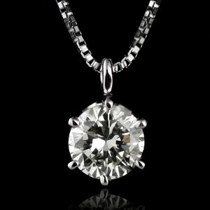 ダイヤモンド ネックレス 一粒 プラチナ ダイヤ 0.3カラット レディース suehiro