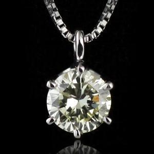ダイヤモンド ネックレス 一粒 プラチナ ダイヤ 0.5カラット suehiro