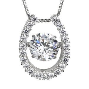 ダンシングストーン ダイヤモンド 1カラット ネックレス プラチナ 揺れる 大粒 馬蹄 ホースシュー 鑑別書付 セール|suehiro