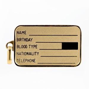 ネックレス レディース 18金 ドッグタグイエローゴールド ネックレス 認識票 タグ ID プレート【今だけ代引手数料無料】|suehiro