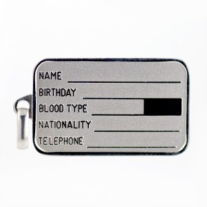 プラチナ ネックレス ドッグタグ 認識票 タグ ID プレート【今だけ代引手数料無料】|suehiro