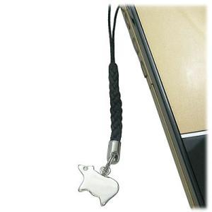 シルバー950 キュービックジルコニア入り携帯ストラップ ウシ【今だけ代引手数料無料】 suehiro