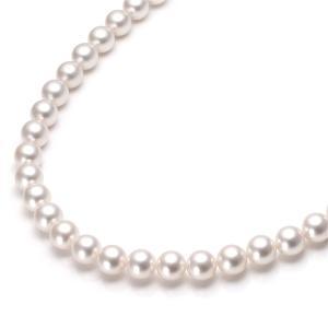 洗練された艶と輝きの本真珠を シンプルパールネックレス。 ご結婚式 母の日 など冠婚葬祭に。  送料...