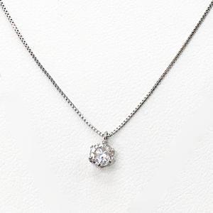 ネックレス レディース 天然石 ダイヤモンド ネックレス プラチナ 一粒 0.4カラット 鑑別書付|suehiro|16