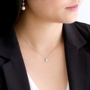 ダイヤモンド 一粒 ネックレス プラチナ 0.3カラット 鑑定書付 セール suehiro 02
