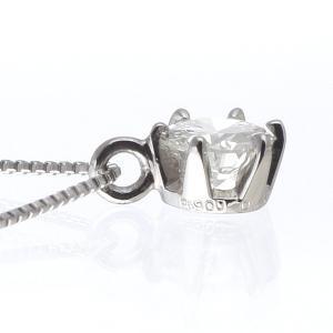 ダイヤモンド 一粒 ネックレス プラチナ 0.3カラット 鑑定書付 セール suehiro 04