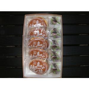和菓子詰め合わせ1「栗まんじゅう5個/井の頭どら焼き5個」2100円(税込)のし無料対応します|sueki3154