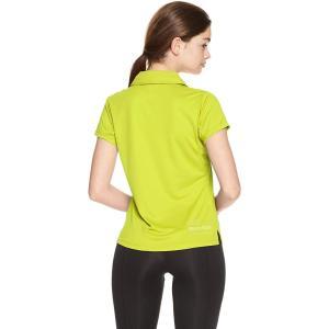 デサント トレーニング UVカット ポロシャツ MOVESPORTS DMWLJA72 GYEL M