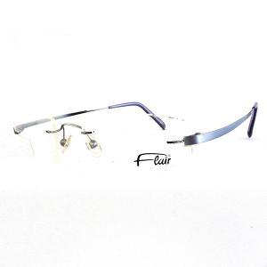 FLAIR フレアー  眼鏡フレーム ダテ眼鏡 メタル  ライトブルー FLAIR 528 COL.624 レディース|suemune