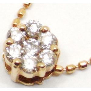 K18 ダイヤモンド ネックレス ペンダント 0.22ct 送料無料|suemune