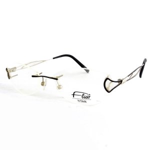 FLAIR フレアー  眼鏡フレーム ダテ眼鏡 チタン  ブラック FLAIR 136 COL.442 レディース|suemune