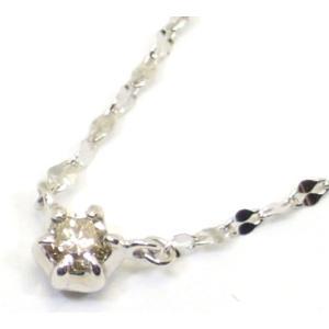 K10WG(ホワイトゴールド) ダイヤモンド ネックレス ペンダント ls00786|suemune