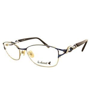 LE DUCAT ル・ダカット 眼鏡フレーム ダテ眼鏡 メタル  ブルー DU524 レディース|suemune