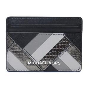 マイケル・マイケルコース カードケース ブラック レザー パッチワーク 32f6sm8d1l M.MICHAEL KORS suemune