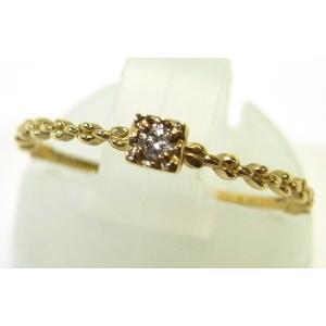 K10YG(イエローゴールド) ダイヤモンド ダイア 指輪 リング 9号 レディース|suemune