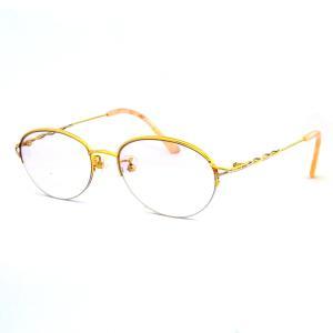眼鏡フレーム ダテ眼鏡 K18(ゴールド)×K14WG(ホワイトゴールド)  ゴールド  レディース|suemune