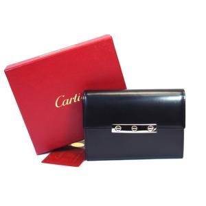 cartier カルティエ 二つ折り財布 ラブコレクション レザー ブラック L3000743